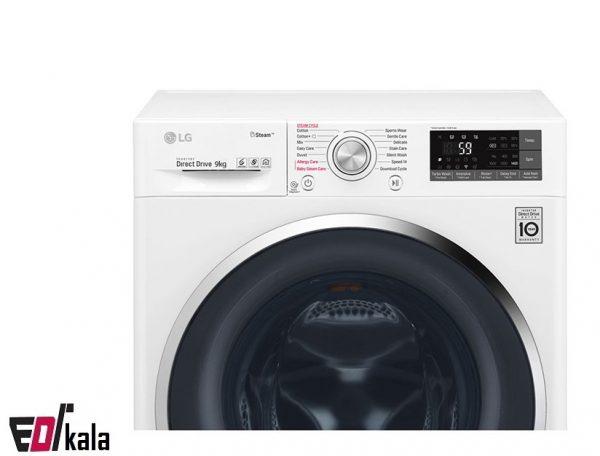 ماشین لباسشویی ال جی ۹ کیلو J6 _ مدلF4J6VYP2W