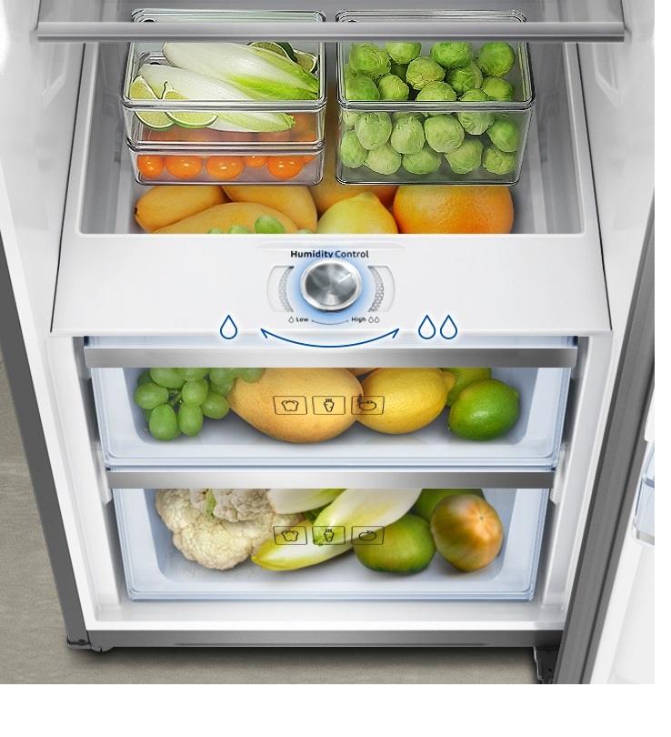 کنترل رطوبت جعبه سبزیجات یخچال دو قلو سامسونگ مدل RR39_RZ32